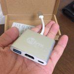 USB Type-CからUSB Type-A、HDMI、Type-C充電のアダプタを買いました