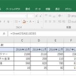 Excelのシートに別シートの表を貼りつける