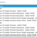 Windows 10 Insider PreviewのISOイメージがダウンロードできます